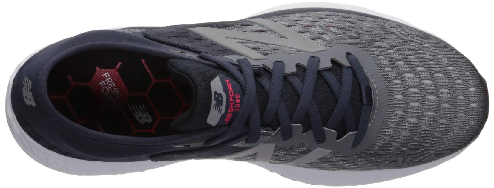 New Balance Men's 1080v9 Fresh Foam Running Shoe, Gunmetal/Outerspace/Energy red, 7 D US by New Balance (Image #8)