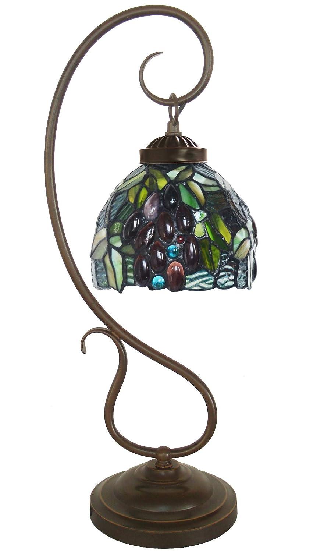 Amazon.com: HT Tiffany - Lámpara de mesa con forma curvada y ...