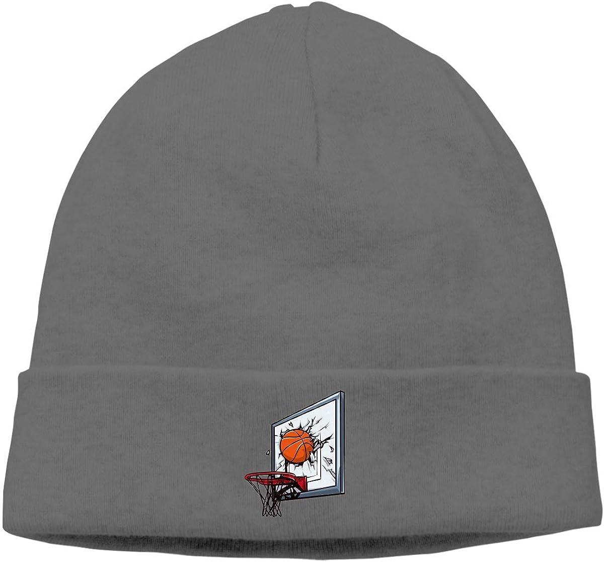 Adult Skull Cap Beanie Broken Basketball Rack Knitted Hat Headwear Winter Warm Hip-hop Hat