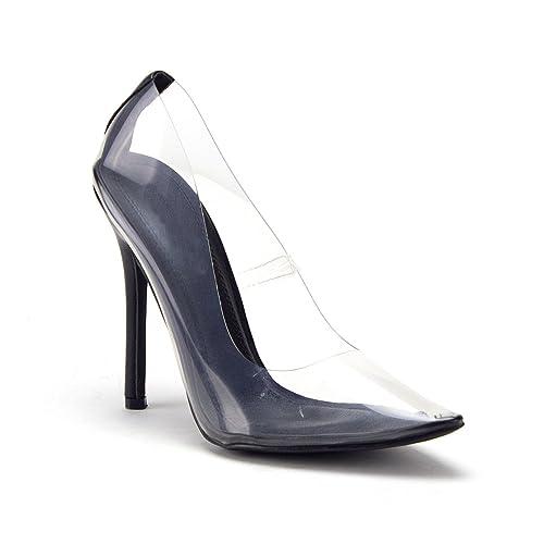 73d5fe77c8c Women cinderella transparent clear lucite pumps stiletto heels shoes pumps  jpg 500x500 Lucite high heel shoes