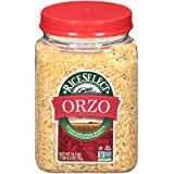 RiceSelect Orzo Pasta, Non-GMO, 26.5 oz (Pack of 4 Jars)