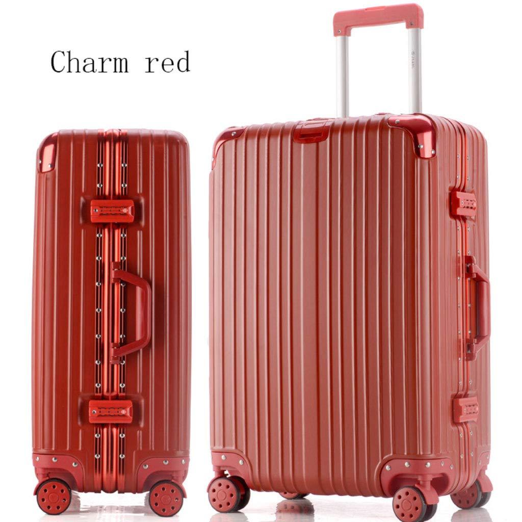 アルミフレームトロリーケーススーツケース24インチの荷物は、20インチの学生のパスワードボックスを搭乗 (Color : ビッグレッド, Size : 22 inches)   B07RBM5TCF