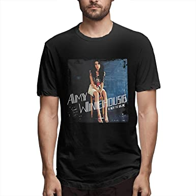 Gorgasy Amy Winehouse Hombres Camiseta básica básica de algodón ...