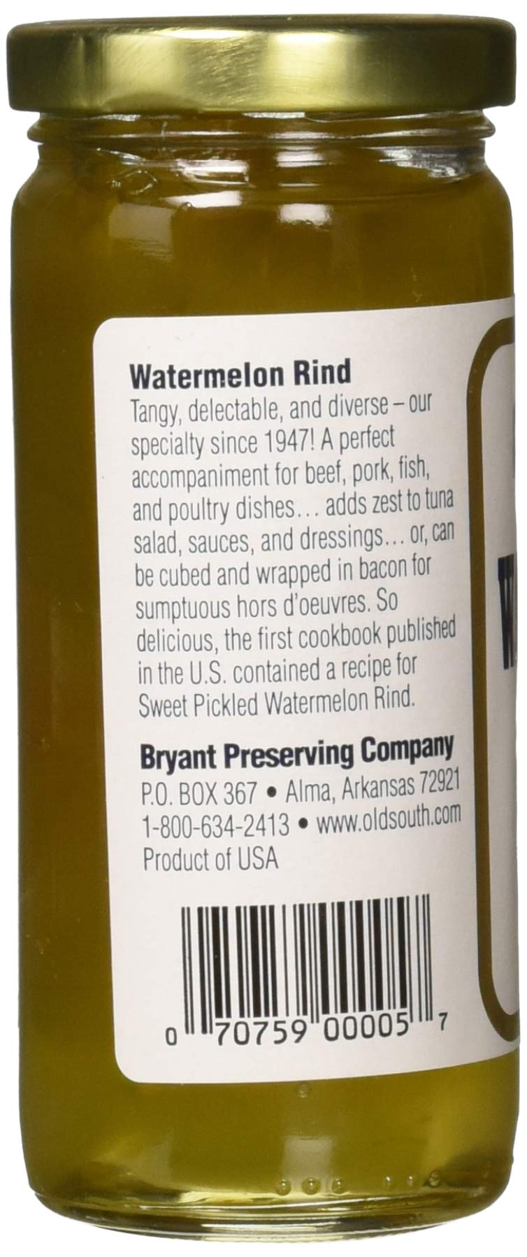 Old South Sweet Pickled Watermelon Rind 10 oz Jar (6 Pack) by Old South (Image #4)