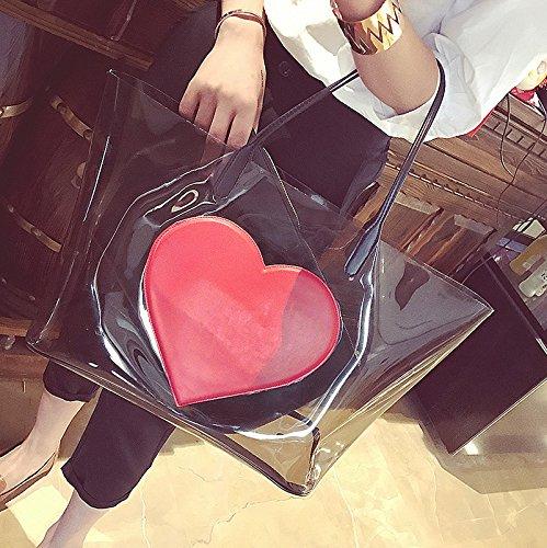 Transparente En Corazón Jalea Nueva Moda Forma La Gwqgz Grande Señoras De Bolso Capacidad Tendencia Las Sq5wvHp8