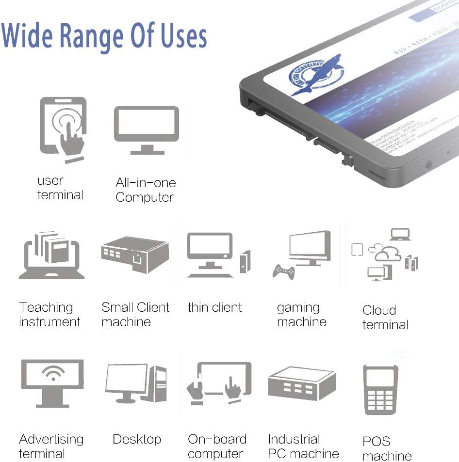 60GB Dogfish SSD 60Go SATA3 III 2.5 inch 7MM Height Interne Solide State Drive PC