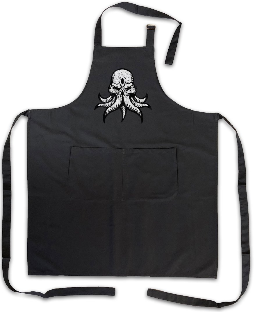 Urban Backwoods CTHULHU INSMOUTH Barbecue BBQ Kitchen Cooking Apron - Wars Horror Arkham H. P. Lovecraft Miskatonic City