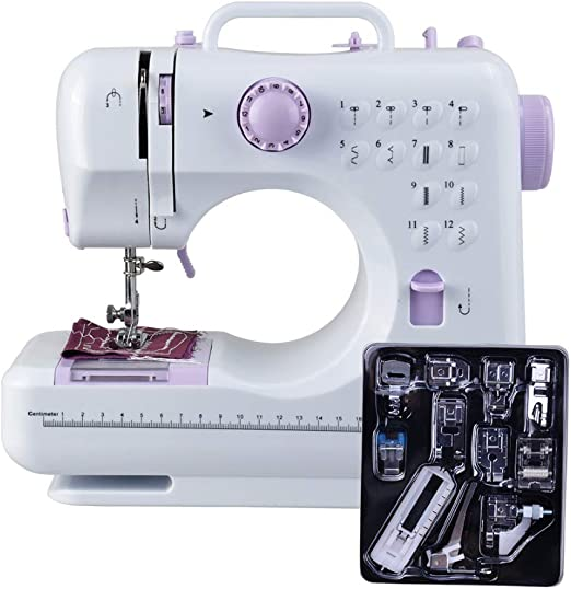 Basage máquina de Coser de 12 Puntadas Máquina Multifuncional para ...