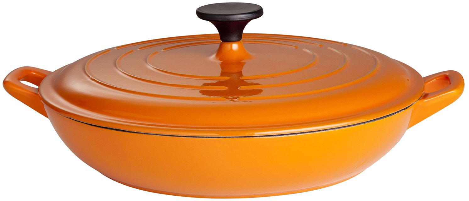 Gusseisenkuss Topf aus Gusseisen, Orange, Ø 32 cm