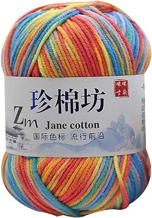 LPxdywlk 4 Hilos De Algodón Colorido Crochet Knitting Sweater Hat Ropa para Bebés Hilados De Lana Cualquier Artesanía De Tejer Handy 02: Amazon.es: Hogar