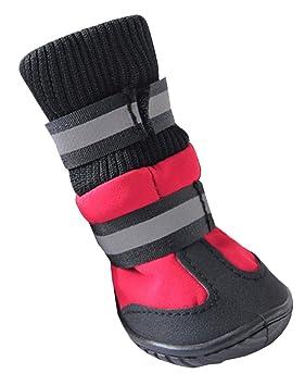 HIKONG 2 Pares Zapatos Mascotas Calzados Botas Calcetines Impermeables Antideslizantes Botines Nieve Agua Lluvia para Perros Pequeños Grandes: Amazon.es: ...
