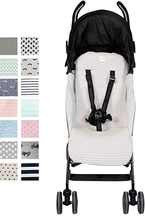 Fundas BCN ® - F95/0393 - Colchoneta para silla de paseo Maclaren Quest ® 2013-17 - Kodak Stripes: Amazon.es: Bebé