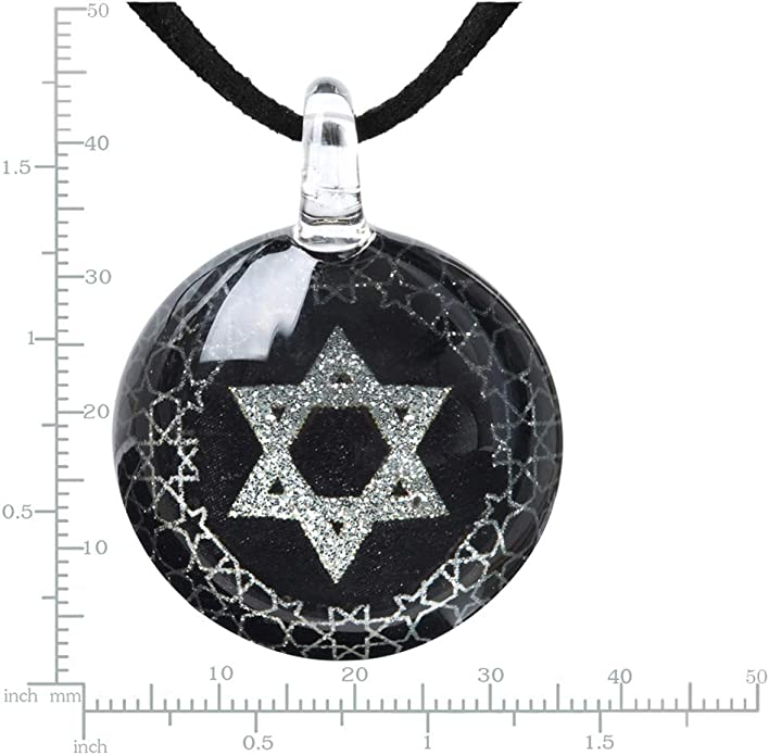 Details about  /Ruby Star of David Pendant Necklace in Solid Sterling Silver 1.25 ct.