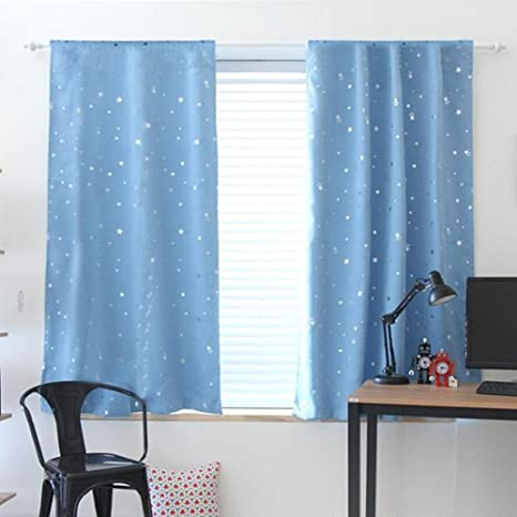 1X1.3m Star Blackout Curtain Living Room Window Blind Shading Screen Drapes