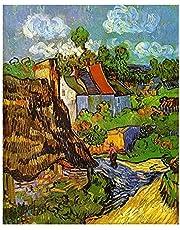 LDTSWES® Van Goghs huis Legpuzzels, houten schilderij Legpuzzel, voor kerst Nieuwjaarsgeschenk Woondecoratie Groot formaat Legpuzzel 1000 stukjes