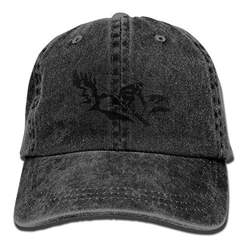 Alpine Skiing Tree Denim Hat Adjustable Women Vintage Baseball Hats Alpine Tree Bear