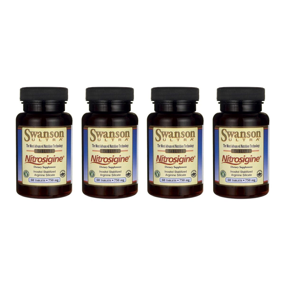 Swanson Nitrosigine Inositol Stabilized Arginine Silicate 60 Tabs