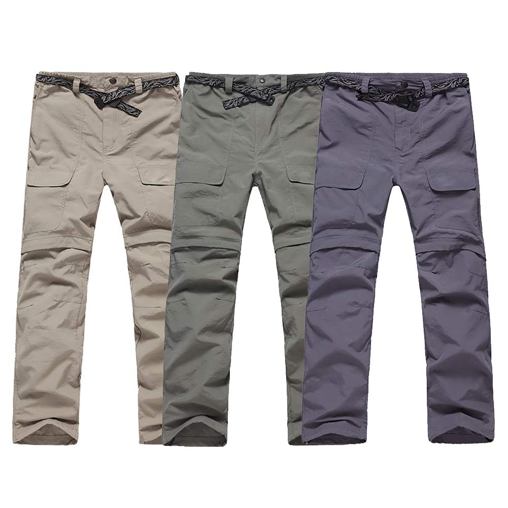 shengyuze Men Quick Dry Pants Removable to Hiking Shorts Outdoor Breathable Travel Trousers for Men Running Sport