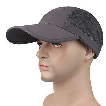 Gorra de béisbol para hombre gorra visera Large borde protección ...