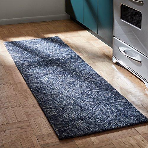 - Rivet Motion Modern Patterned Wool Runner Rug, 2' 3