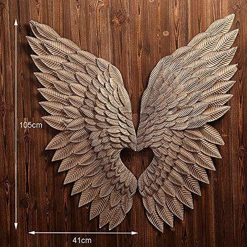 QBDS Angel Wings Loft Decoración de Viento Industrial Restaurante Pared Alas de Ángel Bar Hierro Decoraciones de Pared...