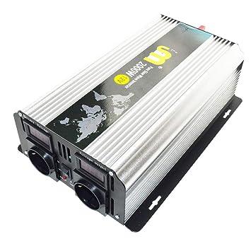 2000W DC 12V zu AC 220V Reiner Sinus Wechselrichter Spannungswandler Inverter DE