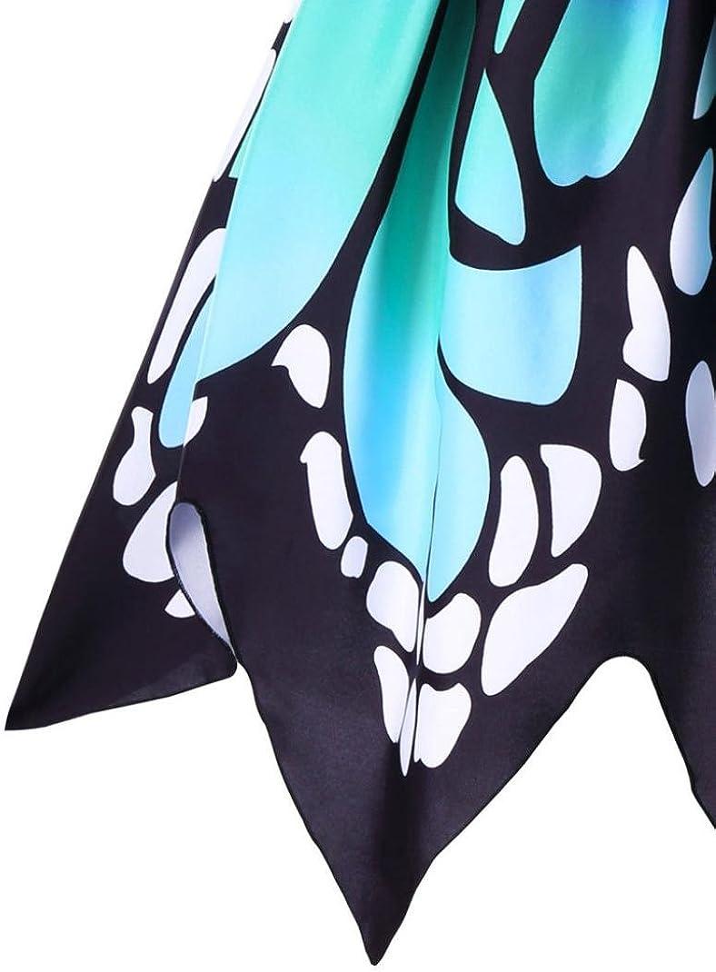KOLY Donna Butterfly Sleeveless Dress Vestito da Partito Swing Abito Vintage in Pizzo Abito da Cocktail Vintage in Tulle con Ricamo Sottile A Vita Alta Gonna Mini Primavera Estate