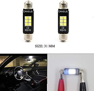 6418 DE3423 DE3425 6000K White Light 6-SMD 5730 Chipsets Canbus Error Free LED Bulbs for Interior Car Lights License Plate Dome Map Door Courtesy 36MM Festoon