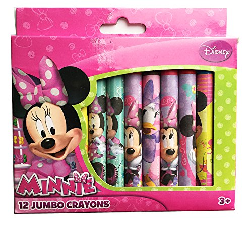 Disney Minnie Mouse 12 Jumbo Crayons for Toddler ()