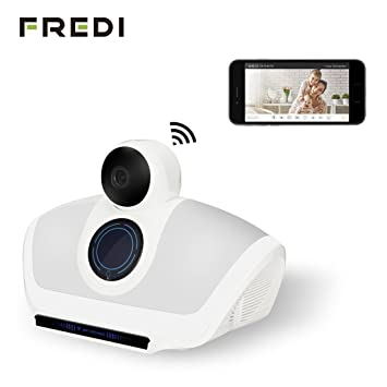 Fredi 3 in1 interior WIFI Cámara Espía Oculta + altavoz Bluetooth + color luces LED con