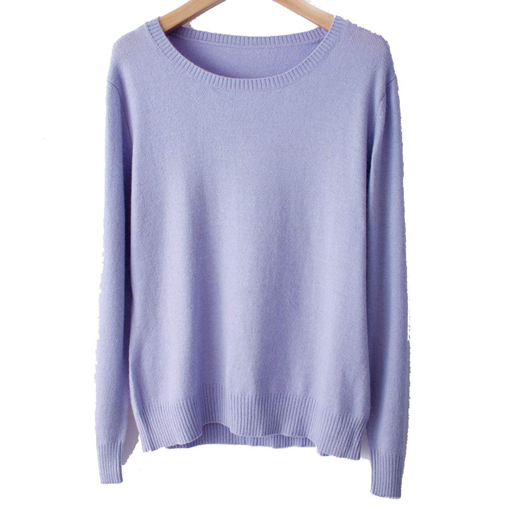 7d453277bc67 WNDSYN Spring Winter O-Neck Cashmere Wool Sweater Women Solid Big Pullovers  Jumper Knitted Sweaters at Amazon Women s Clothing store