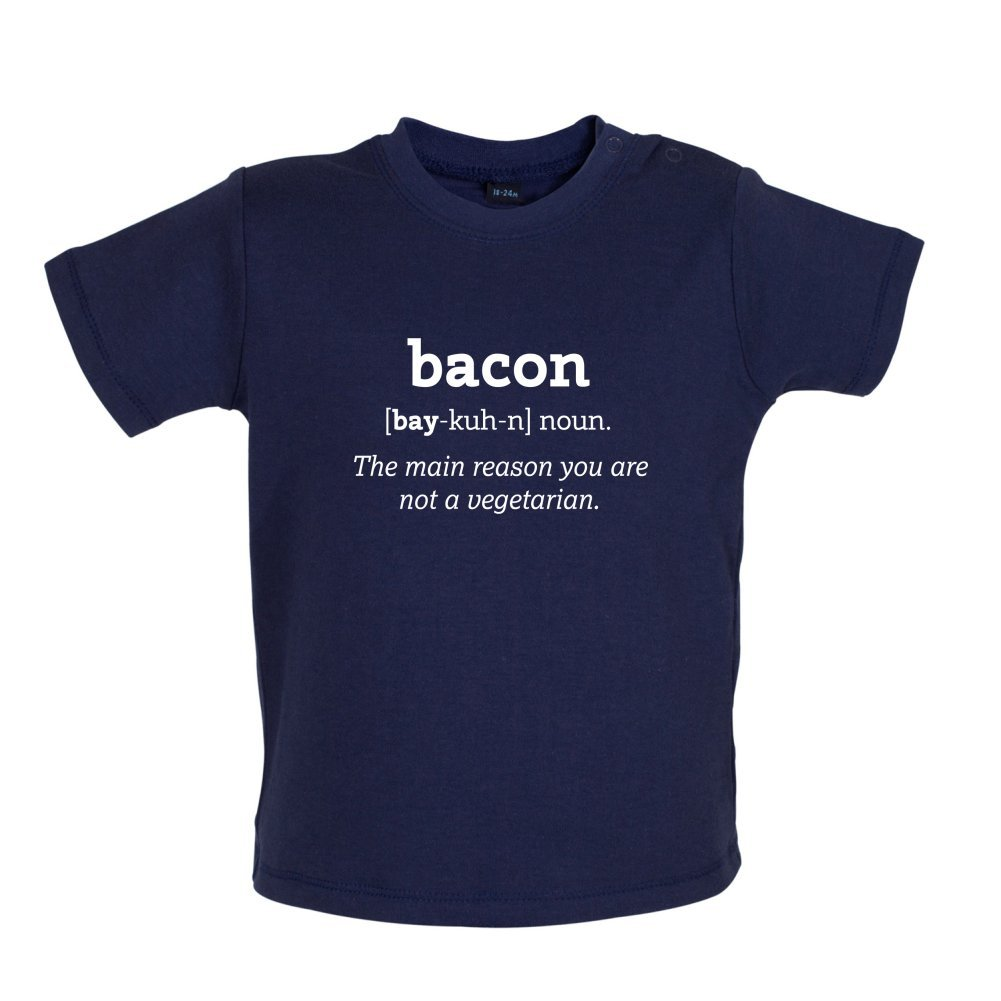3-24 Months 8 Colours Dressdown Bacon Definition Baby T-Shirt