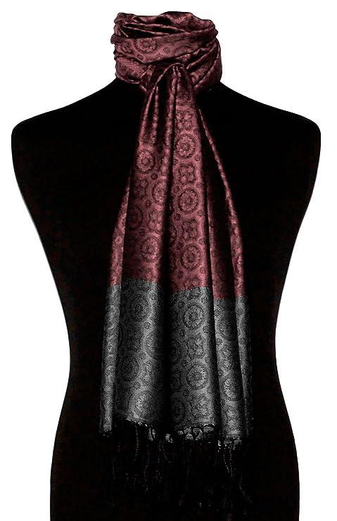 Lorenzo Cana Pashmina de 70% soie et 30% viscose pour l`homme - écharpe  jacquard avec les mesures de 70 x 190 cm - un lavallière attrayant et noble  en bois ... 30af27f6f5c