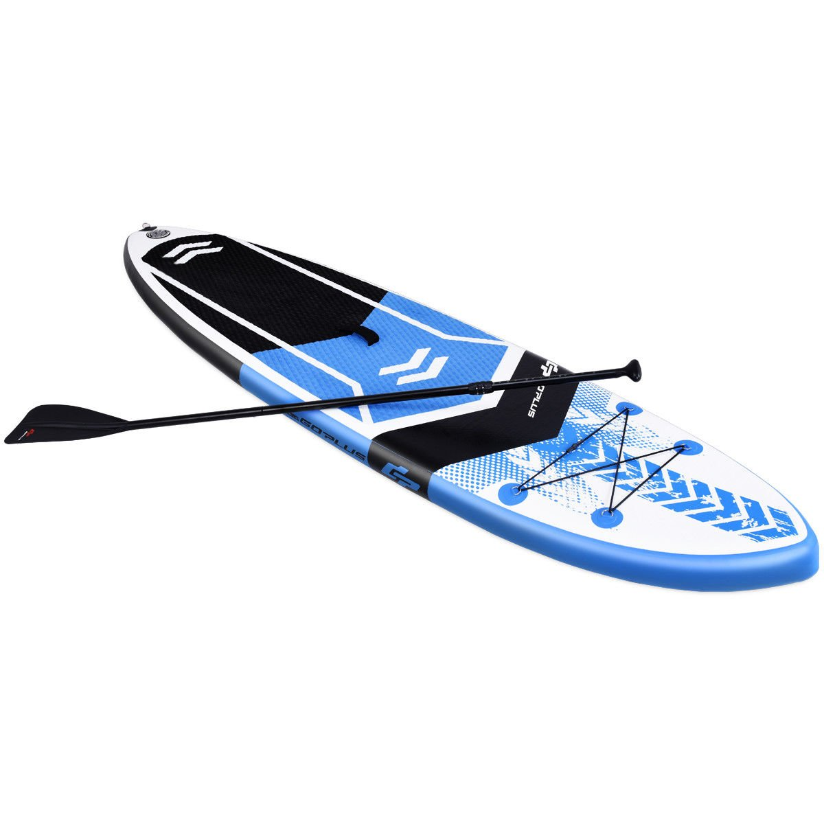 Goplus 10 6 Inflatable Stand Up Paddle Board SUP Cruiser with Free Premium SUP Accessories, Backpack, Adjustable Paddle and Hand Pump, for Youth Adult