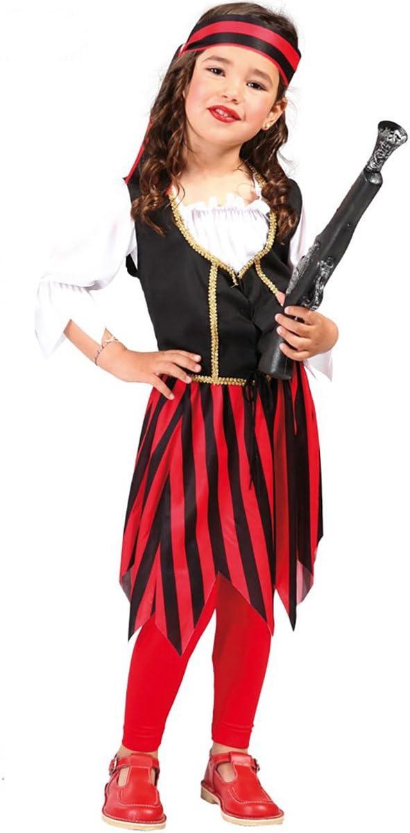 Disfraz de chica pirata corsé (4-6 años): Amazon.es: Juguetes y juegos