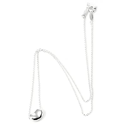 94ff02438 Tiffany Sterling Silver Elsa Peretti Bean 9Mm Pendant Necklace 25185129:  Amazon.co.uk: Jewellery