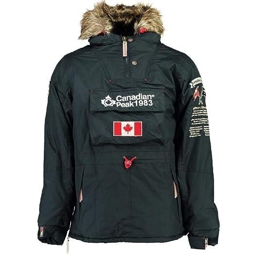 Canadian Peak Abrigo Negra Unisex NIÑO Y NIÑA 10 AÑOS: Amazon.es: Ropa y accesorios