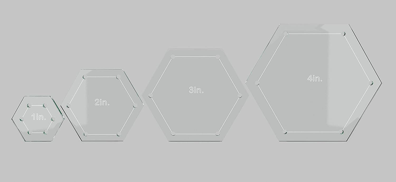 Hexagon Quilting Template Set, 4