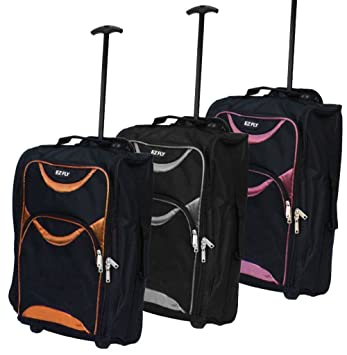 5b79bed68ad3 LIGHTWEIGHT SMALL WHEELED HAND LUGGAGE TROLLEY CABIN FLIGHT BAG SUITCASE
