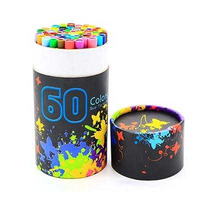 YTBT 60 Colores Marcadores De Arte Puntas Dobles Pincel Para ...