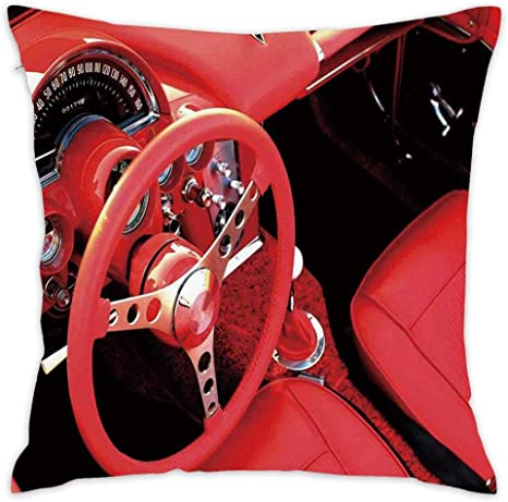 Amazon Com Exquisite Sports Car Steering Wheel Throw Pillow Cases Covers For Couch Bed Sofa Lovely Print 18 X 18 Inches Square Pillow Cover Home Decor Home Kitchen