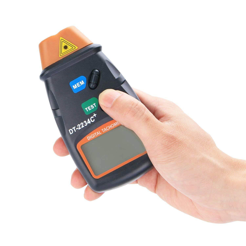 QUMOX Digital Infrared Infrarot Umdrehungsmesser DT2234C Ber/ührungsloser Tachometer Drehzahlmesser