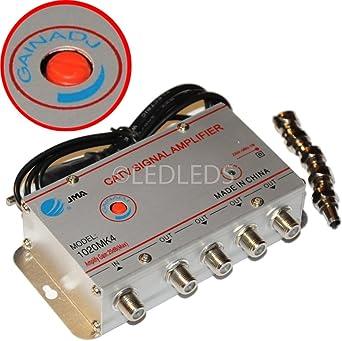 Amplificador de Señal de Antena Para Encendedor de Coche 4 Salidas Para TV Digital Terrestre
