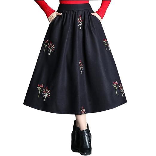 BSQZ JIN Ping® Faldas Plisadas, otoño e Invierno versión Coreana ...
