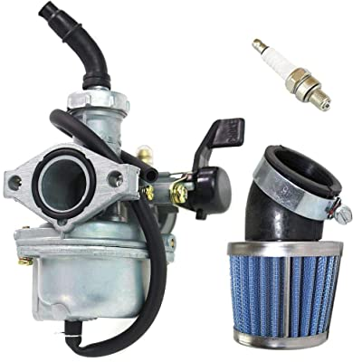 PZ22 Carburetor for 110cc 125cc Dirt Bikes Pit Bike Monkey Scooter ATV Quad Go Karts 22mm Carb with Air Filter Spark Plug by TOPEMAI: Automotive