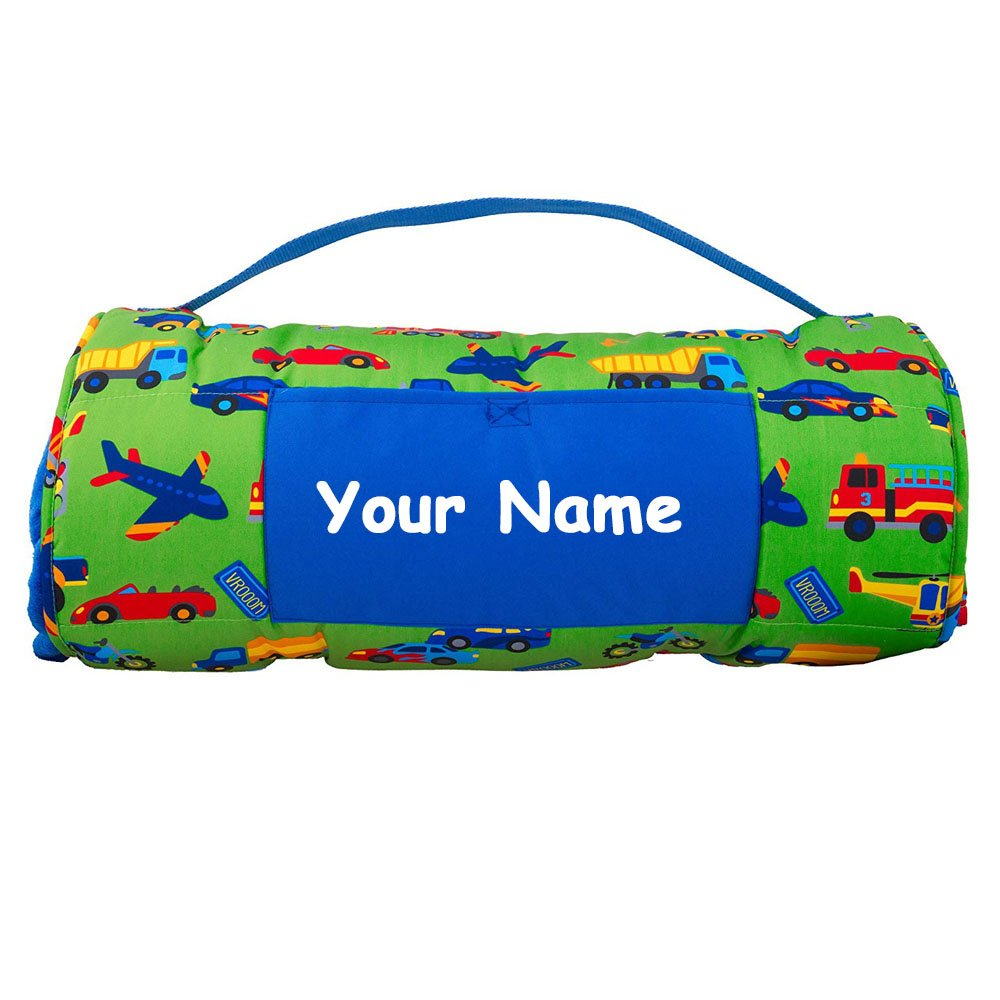Personalized Stephen Joseph Transportation Planes Trains and Automobiles Themed All Over Print Nap Mat by Stephen Joseph