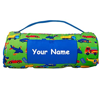 7a24a06d1318 Personalized Stephen Joseph Transportation Planes Trains and Automobiles  Themed All Over Print Nap Mat