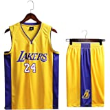 Los Angeles #23 Jersey,Basketball For Men And Unisex Basket Suit T-shirt Stitched Letters and Numbers Lakers Kobe Bryant #8#24 Jersey Classic Sleeveless Set