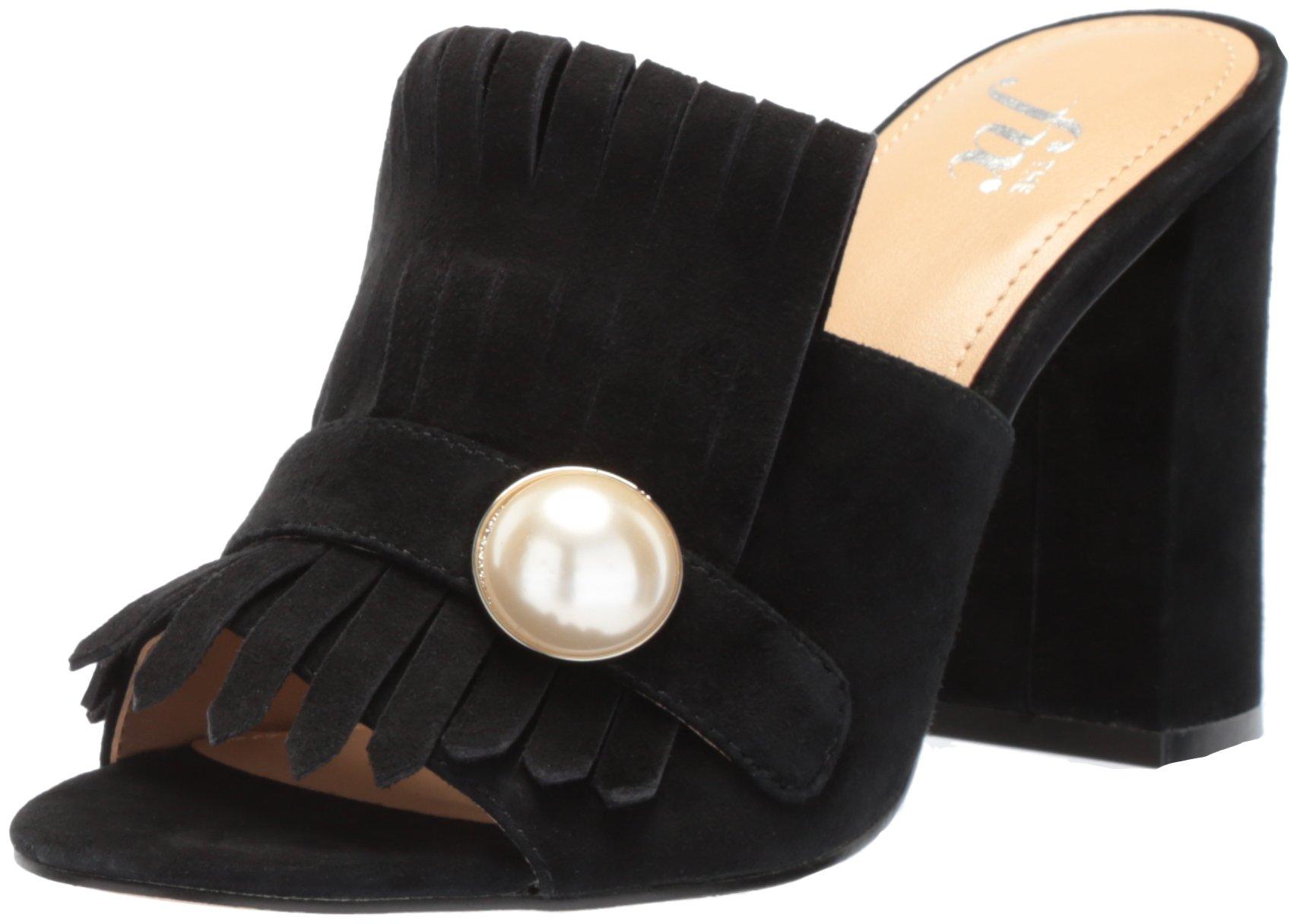 The Fix Women's Giuliana Block Heel Mule, Black Suede, 7 B US