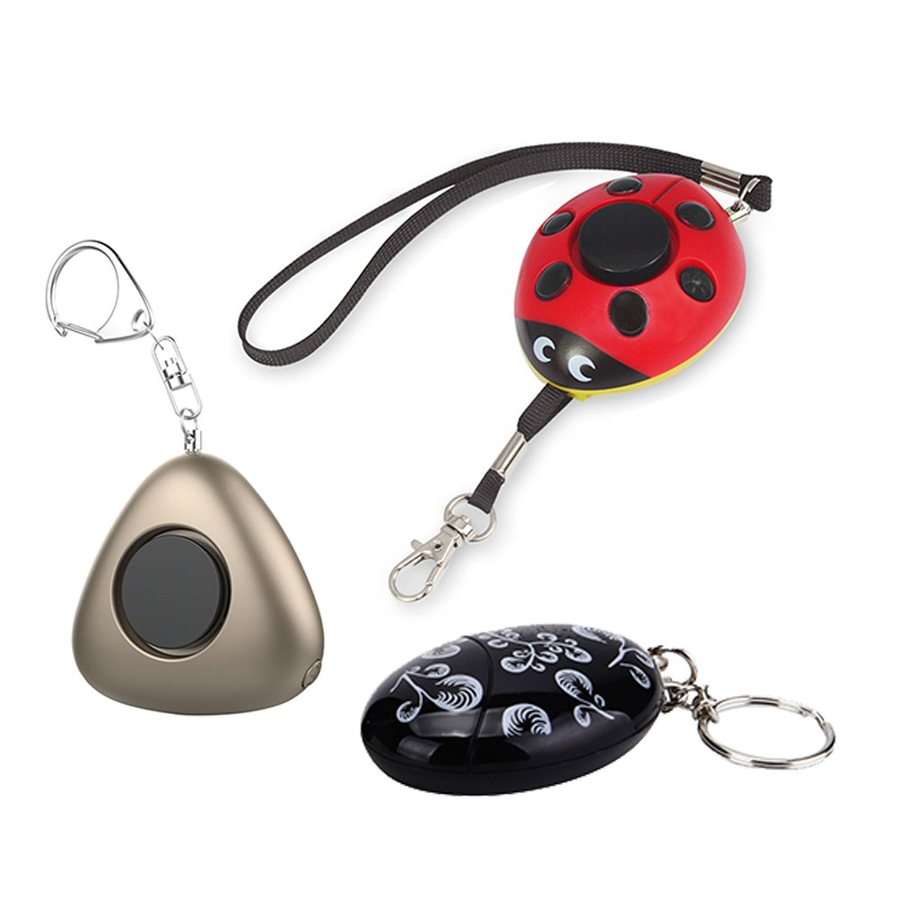 Emergency Personal Alarm Keychain Self Defense for Elderly Kids Women Adventurer Night Workers Pack of 3